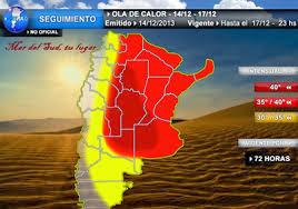 OLA DE CALOR EXTREMA EN ARGENTINA, 29 de Diciembre 2013