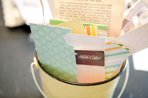 Scrapbook+Scraps+in+a+bucket Marcy Penners Organised Craft Room
