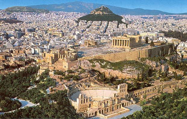Panorámica de la ciudad de Atenas en Grecia