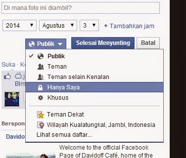 Supaya Foto Profil Facebook Tidak Bisa Diklik