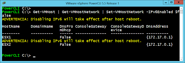 PowerCLI, Habilitar o deshabilitar IPv6