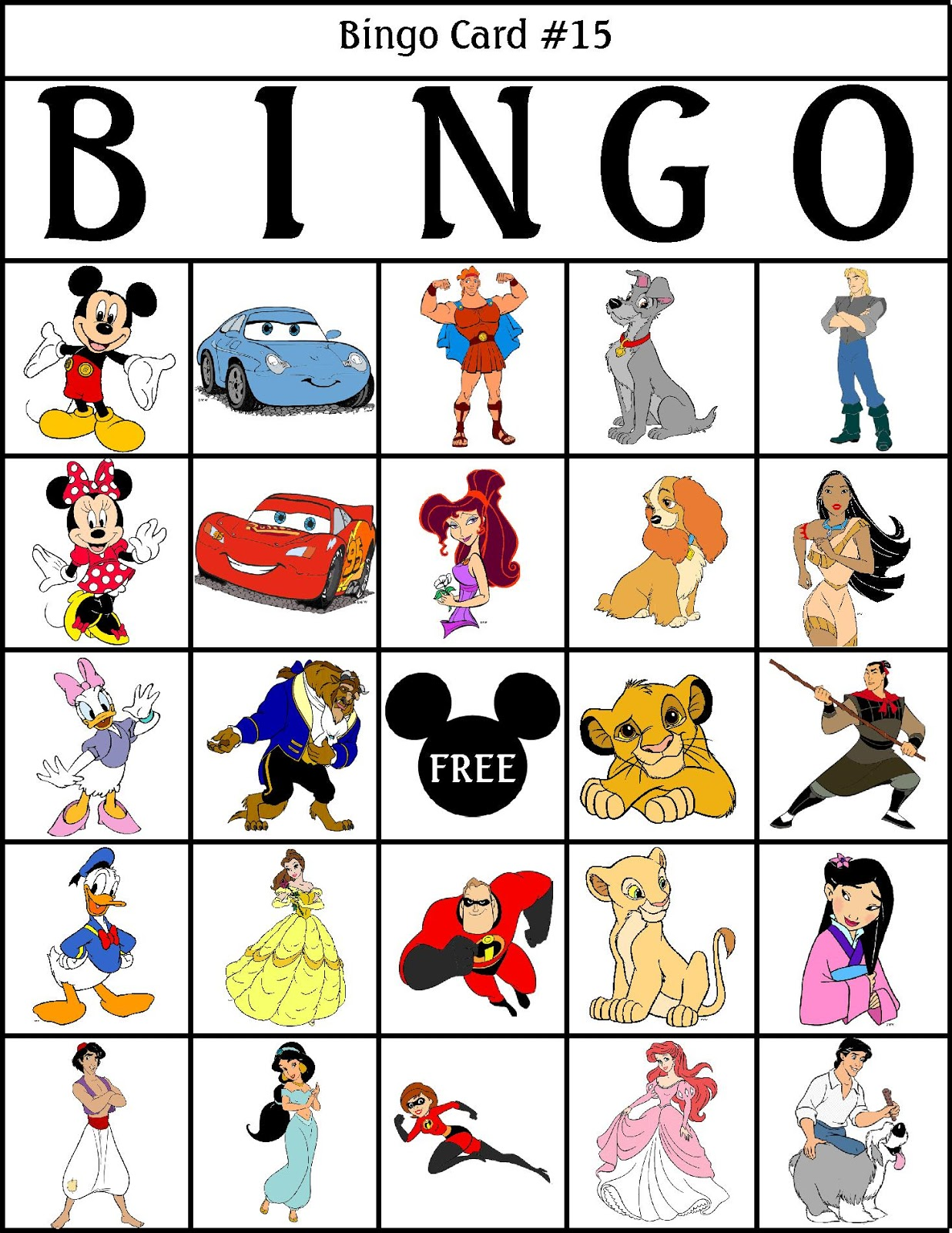 It is a photo of Ridiculous Character Bingo Template
