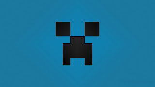 Minecraft Creeper desktop wallpapers blue