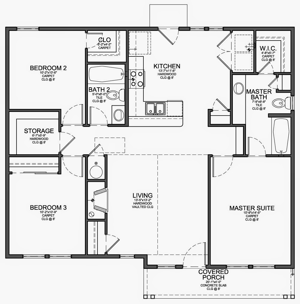 Minimalist House Design And Drawing Of Standard Floor Home