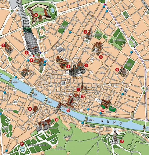 Tourist map of Florence