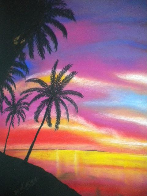 paul iroye chalk pastel paintings