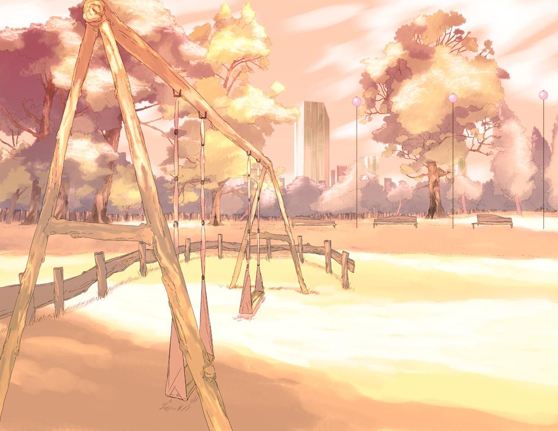 Outdoor anime landscape