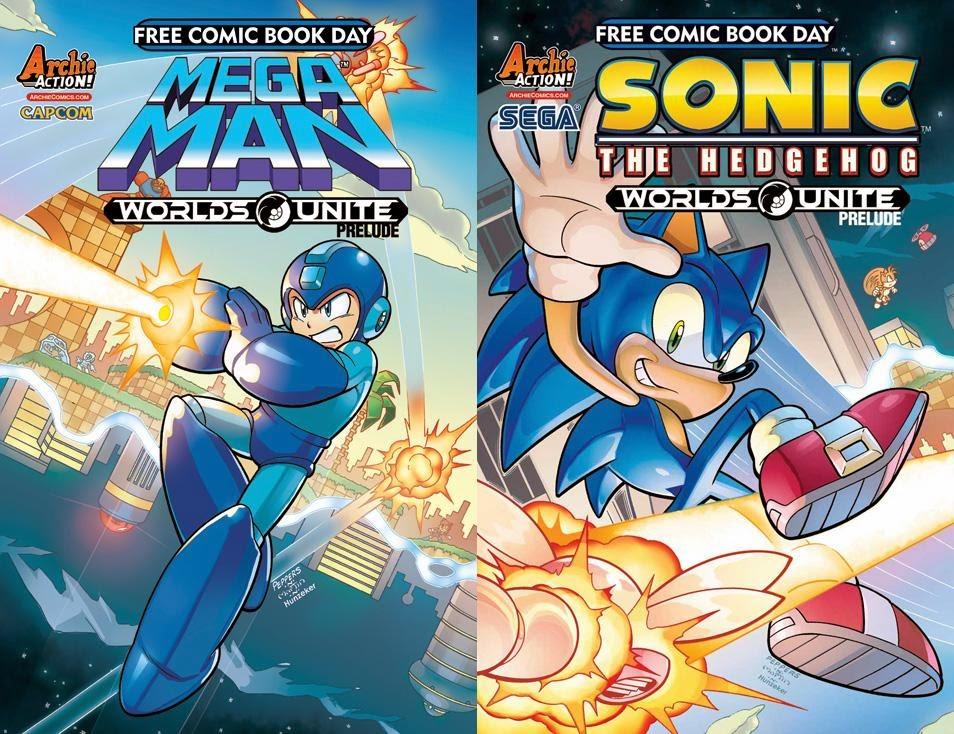 rockman corner worlds unite prelude set for free comic book day edition