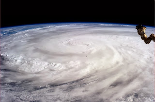 Haiyan typhoon images from space