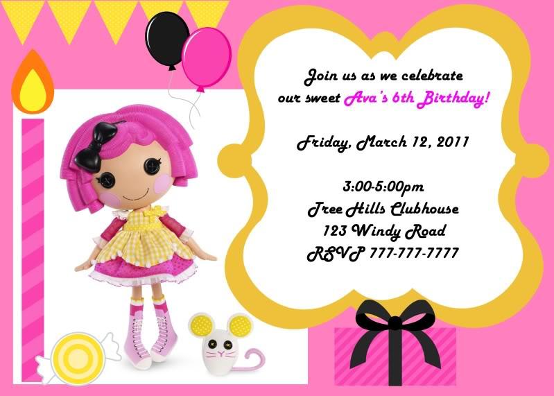 The Fine Art of Motherhood Planning a Lalaloopsy Birthday Party – Lalaloopsy Birthday Invitation