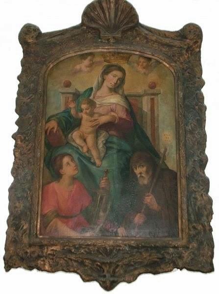 Pala dell'altare del Santuario di San Francesco di Paola