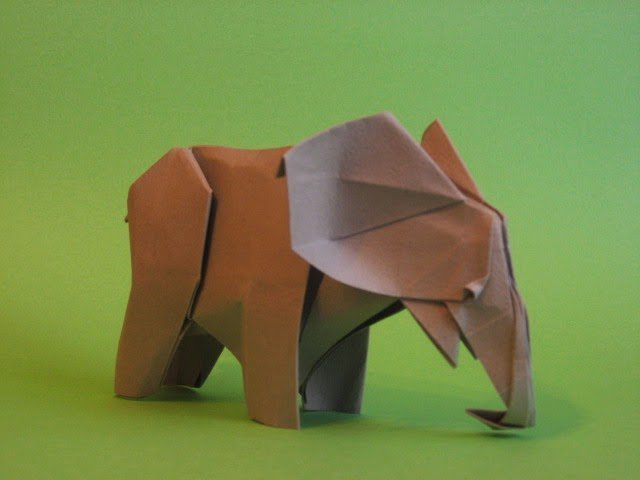 Easy Origami Elephant 3d Origami For Kids