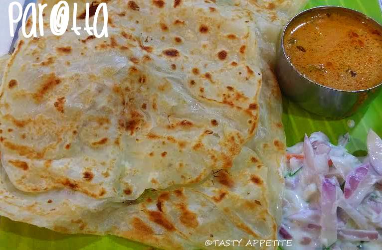 Parotta recipe indian layered bread recipe tasty dinner ideas oil to cook forumfinder Gallery