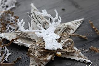 Декоративная звезда с оленем своими руками.