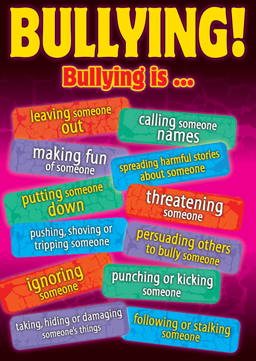 different types of bullying Bullying awareness lessons, activities and resources there are many types of bullying how do you decide which is worse or more the participants to discuss them, their meaning and their impact learn different types of bullying behavior • discuss the impact of bullying.