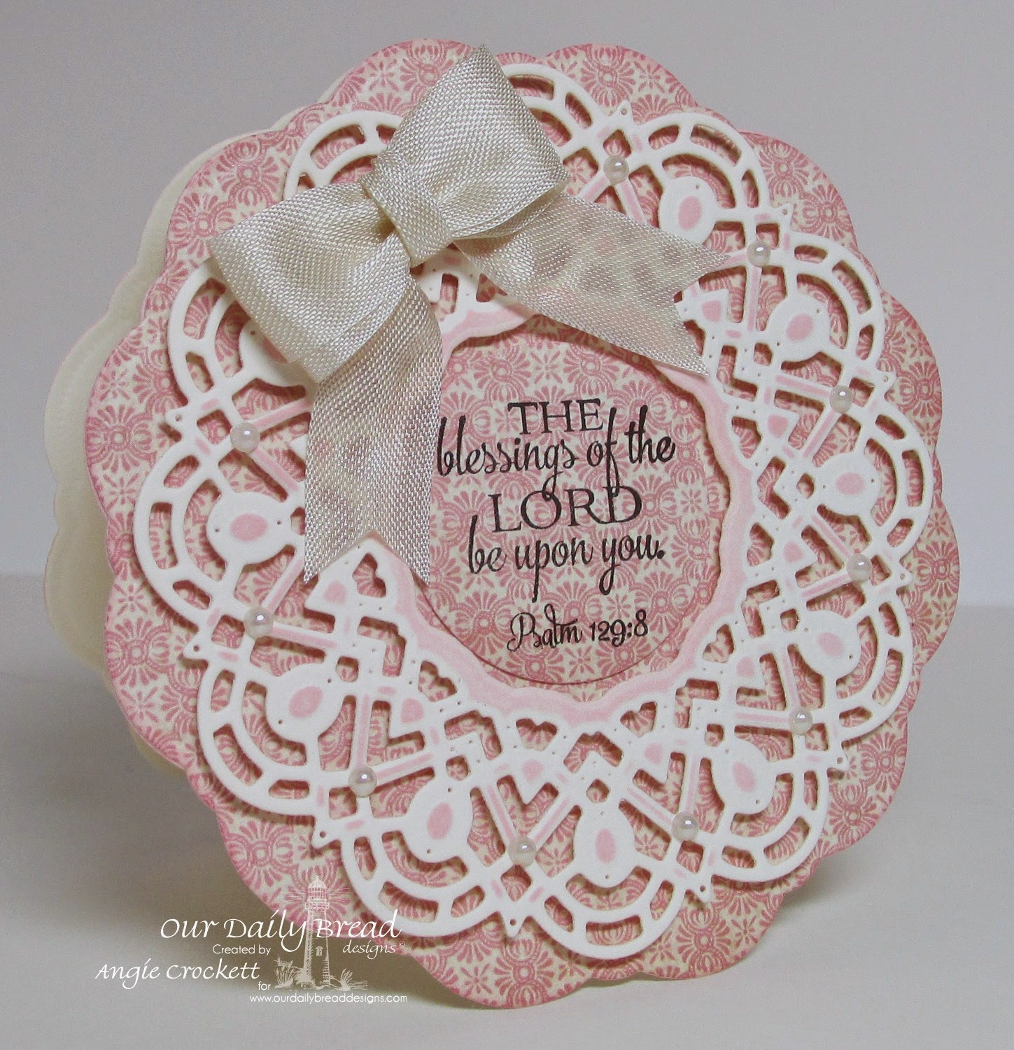 ODBD Custom Doily Di Set, Doily Blessings, Card Designer Angie Crockett