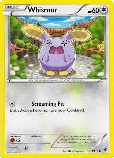 Whismur Phantom Forces Pokemon Card