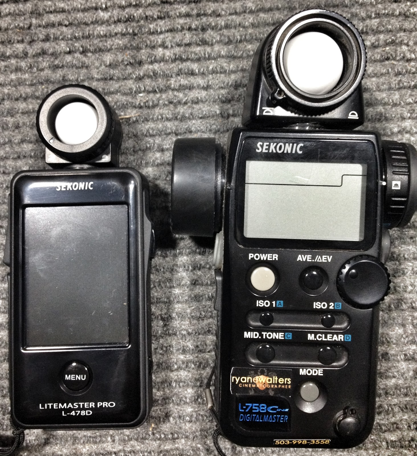 Sekonic Light Meter: L-758DR-U DigitalMaster Exposure Meter - Overview