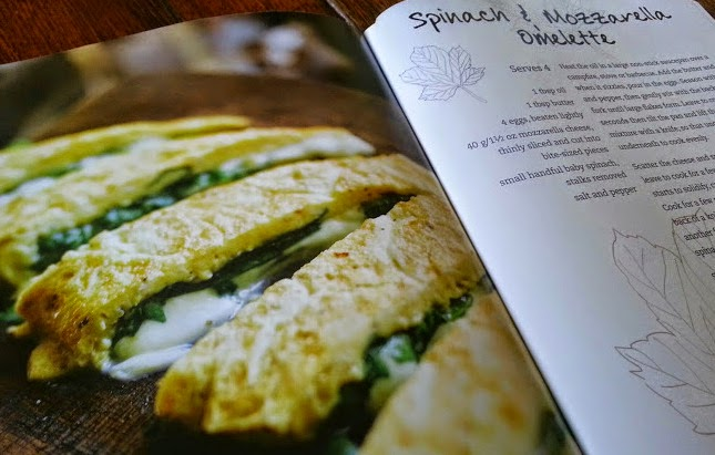 The Camping Cookbook from Parragon Books review spinach omelette page