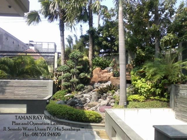 keindahan batu alam untuk taman jepang tukang taman surabaya