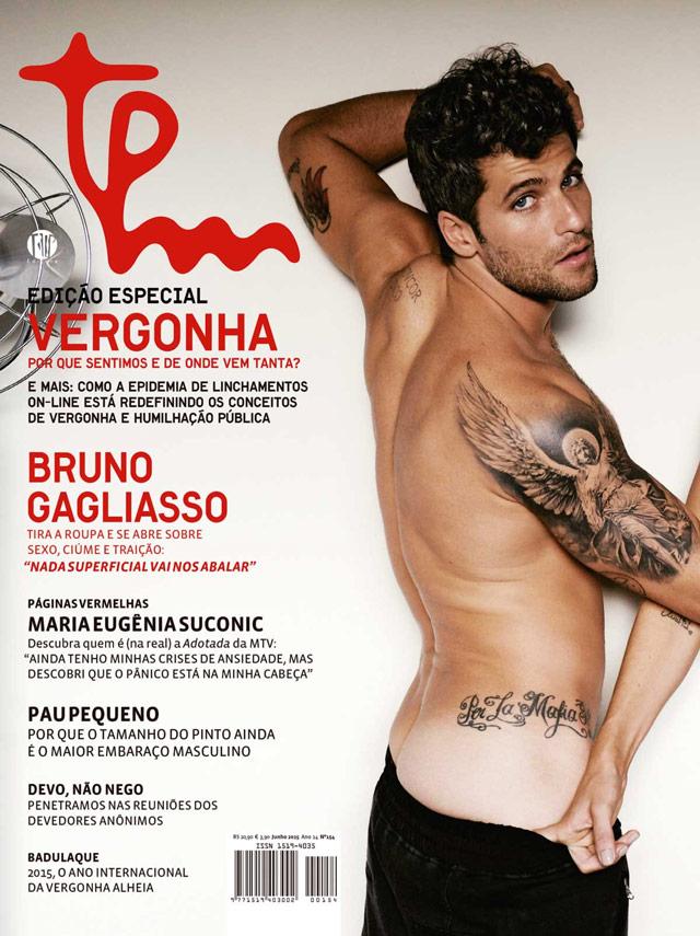 Bruno Gagliasso exibe o cofrinho na capa da TPM. Foto: Daniel Aratangy