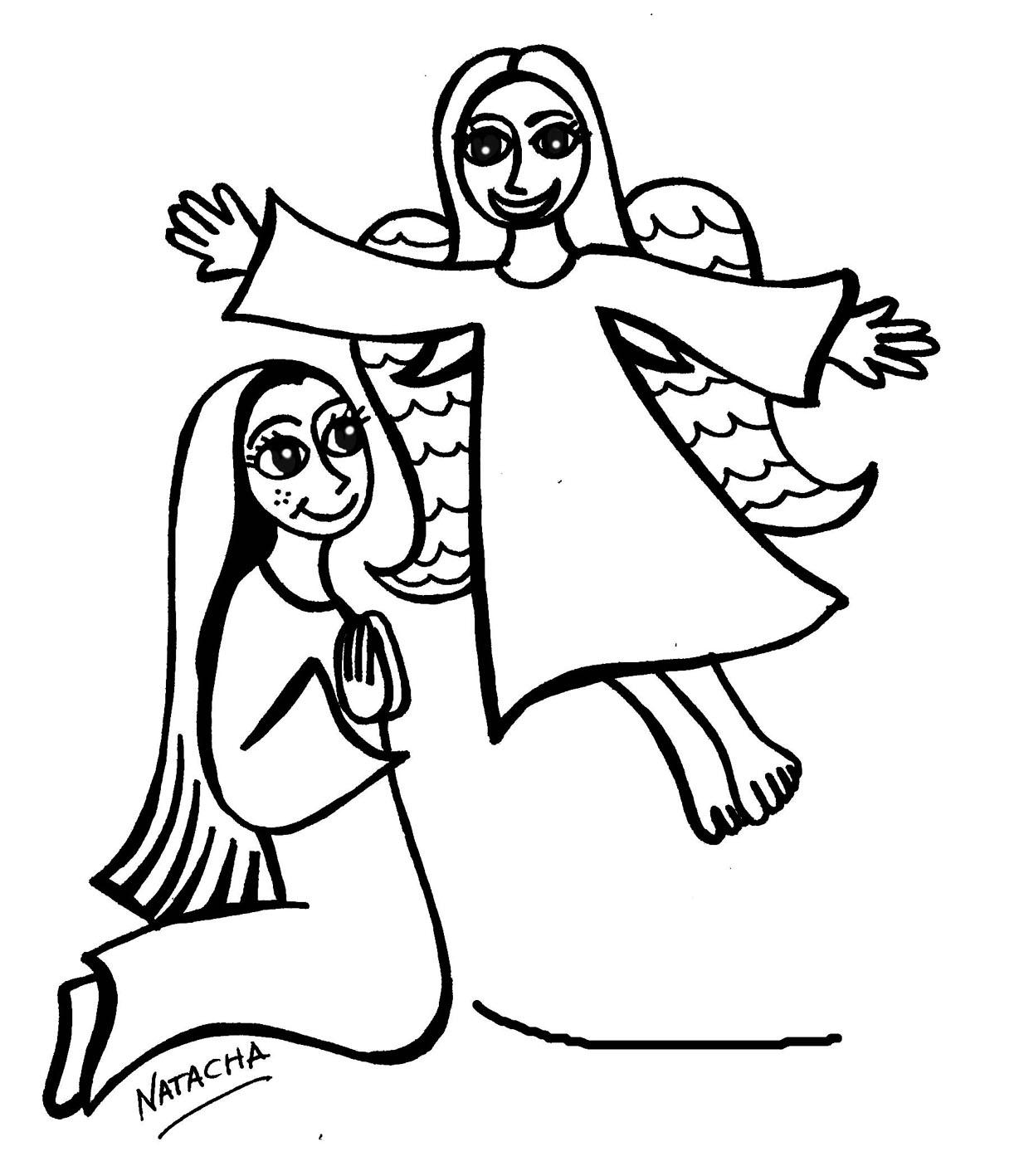GRUPO SIMPÁTICO: Dibujos de María en Adviento