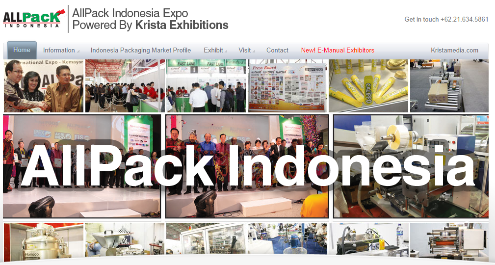 a capture of allpack indonesia homepage