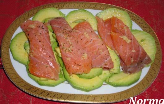 Cinco fogones ensalada de aguacate y salm n ahumado - Ensalada con salmon y aguacate ...