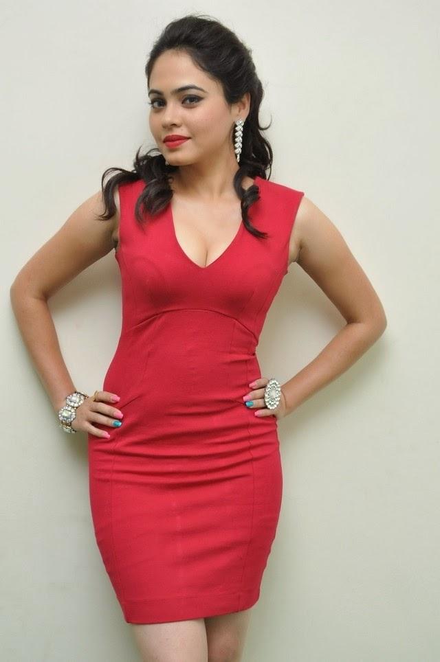 Malobika Banerjee In Red Hot Dress New Stills