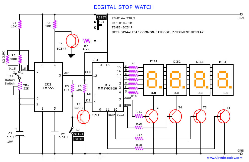 Digital Alarm Clock Schematic Digital Get Free Image