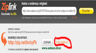 encurta links zip links dicas