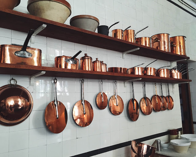 Paris 1930s Kitchen: copper pots