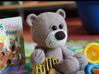 Crochet Knitting Stitch Teddy Bär