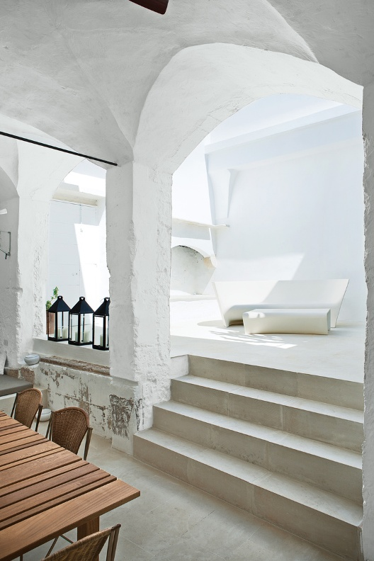 patio con mueblesexterior de diseño
