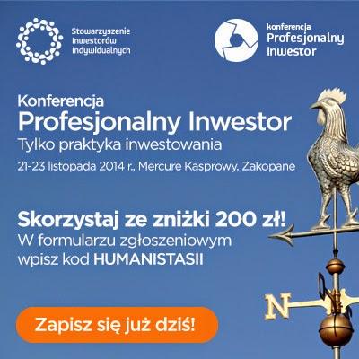 200 zł rabatu na Konferencję Profesjonalny Inwestor 2014