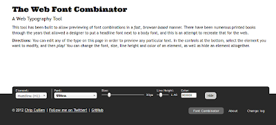the font combinator website