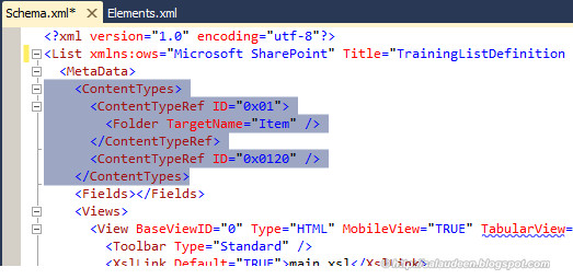 sharepoint 2010 custom list definition schema.xml