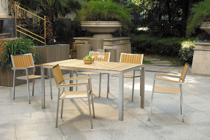 Beautiful Patio Furniture Fair With Wood and Metal Patio Furniture Picture