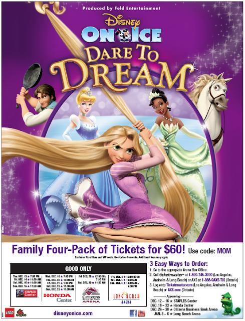 disney on ice family 4-pack tickets for $60