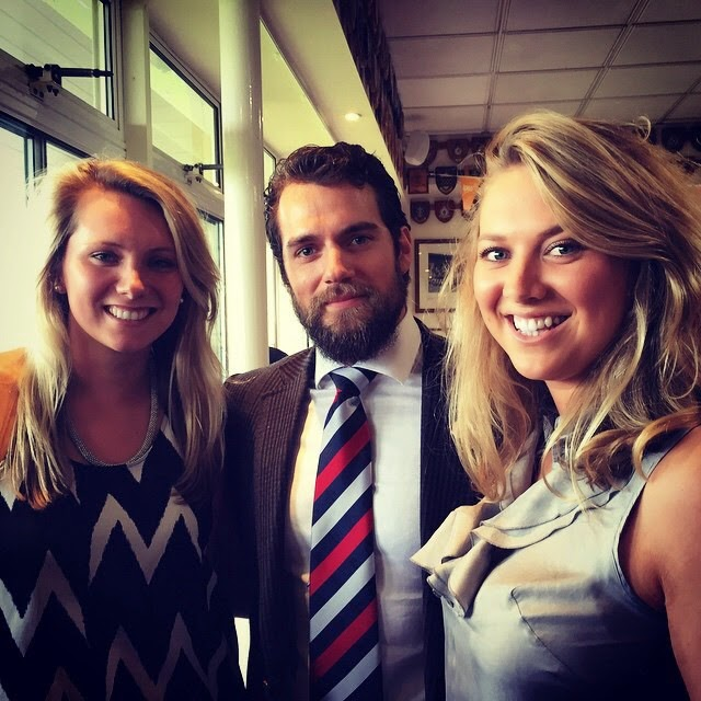 Photo of Henry Cavill & his friend  Emma Long