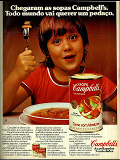 propaganda Sopas Campbell's - 1970. anos 70. reclame década de 70