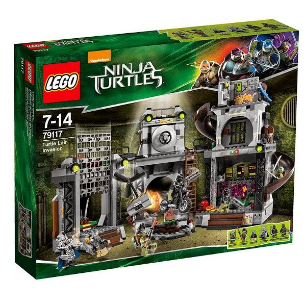 TOYS : JUGUETES - LEGO Tortugas Ninja   79117 Invasión a la Guarida de las Tortugas  Teenage Mutant Ninja Turtle - Turtle Lair Invasion  Producto Oficial 2014 | Piezas 888 | Edad: 7-14 años
