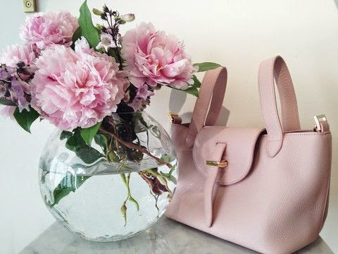 Daily inspiration Pink Peonies + Pink Purse