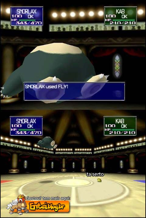 snorlax usando fly no pokémon stadium