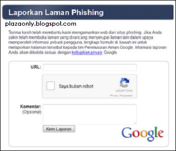 Cara Melaporkan Situs Phishing dan Spam