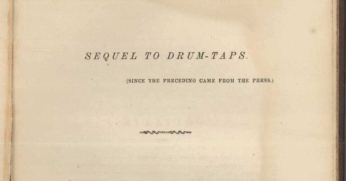 Rauner Special Collections Library: Drum-Taps