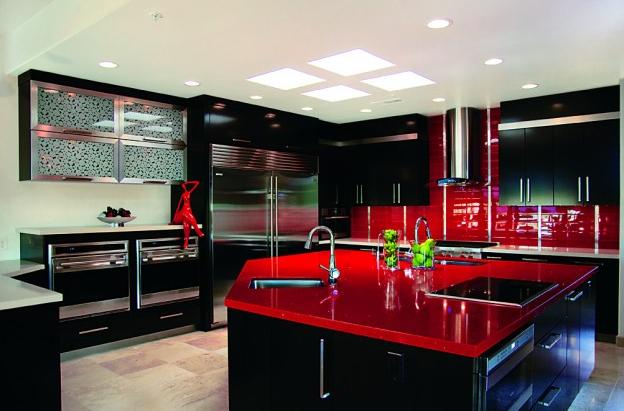 Fotos de cocinas blanco negro y rojo imagui for Cocinas wengue y blanco
