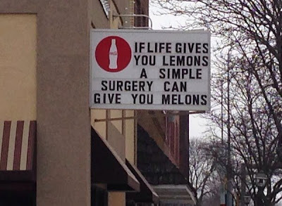 If life gives you lemons a simple surgery can give you melons.
