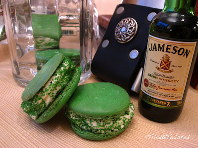 Irish Whiskey & Mint Macaron with Tried & Twisted