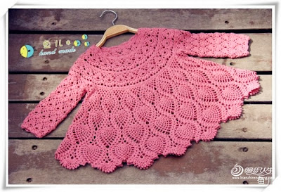 crochet baby pineapple dress